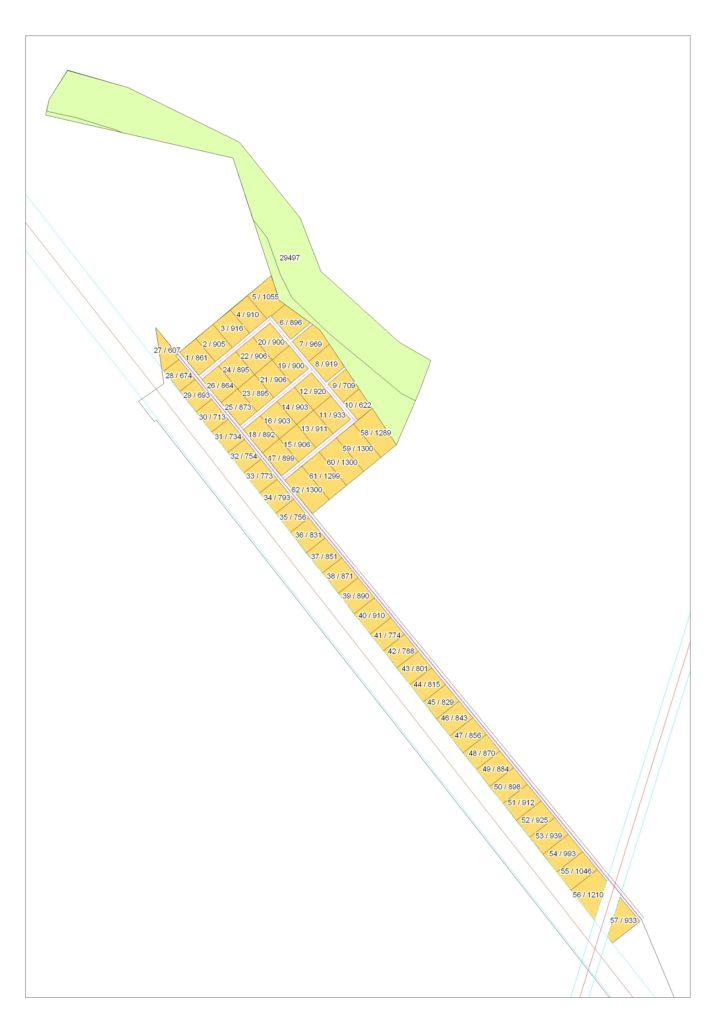 План территории котеджного посёлка Кофейный